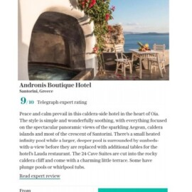 The best boutique hotels in Santorini including cave suites, caldera-view infinity pools
