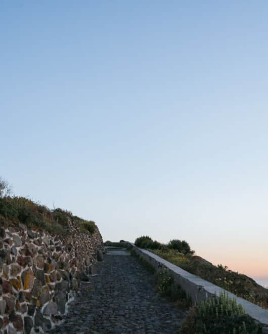 Hiking Path Santorini