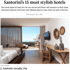 Andronis Arcadia featured in The Times